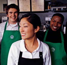 Three Baristas Smiling